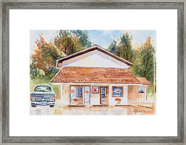 Woodcock Insurance In Watercolor  W406 Framed Print