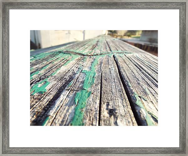 Wooden Bleachers Framed Print