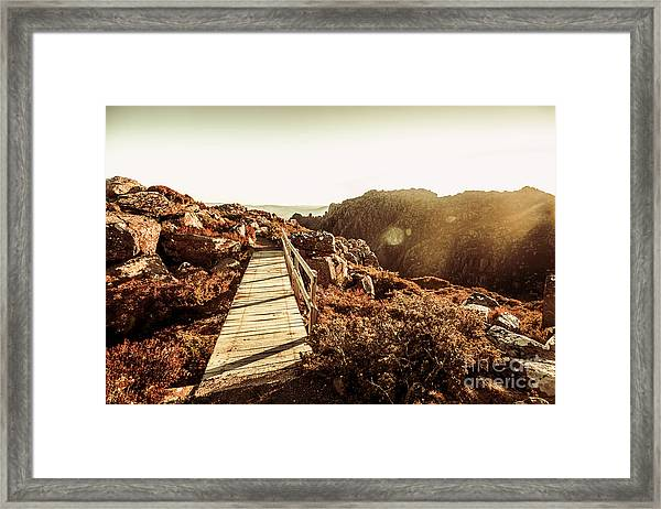 Wooden Mountain Paths Framed Print