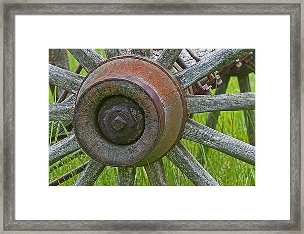 Wooden Spokes Framed Print