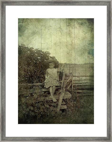 Wooden Throne Framed Print
