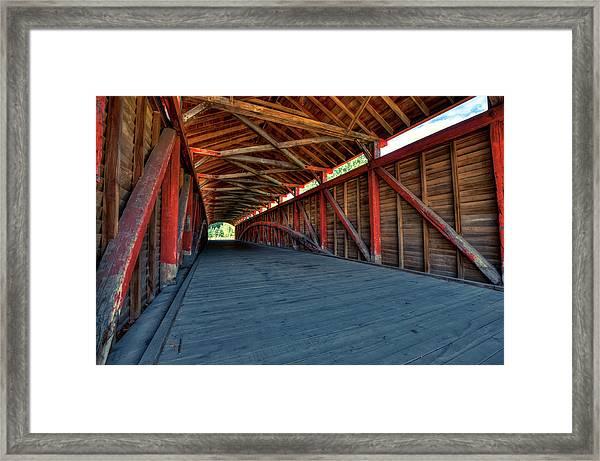 Wooden Tunnel - Barrackville Covered Bridges West Virginia Framed Print