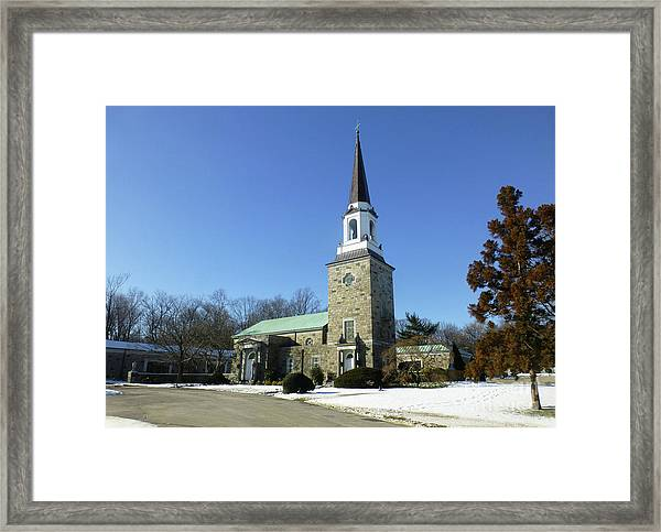 Woodlawn Cemetery Chapel Framed Print