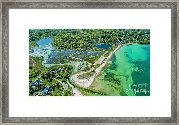 Woodneck Beach At 400 Feet Framed Print