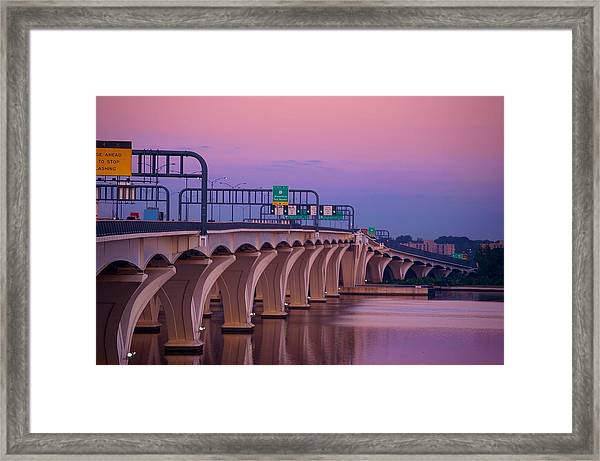 Woodrow Wilson Bridge Framed Print