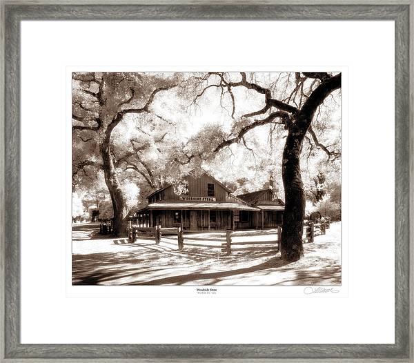 Woodside Store Framed Print