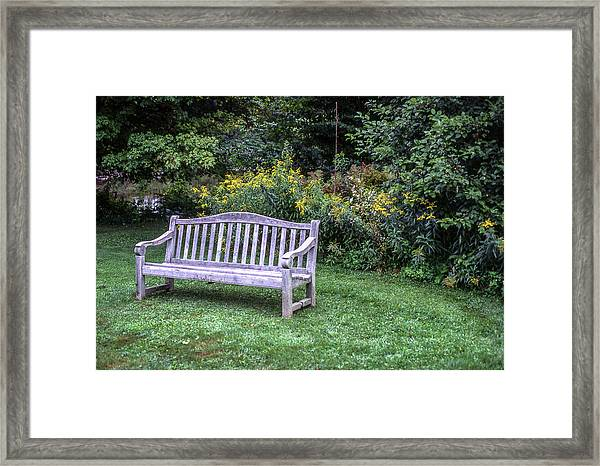 Woodstock Bench Framed Print
