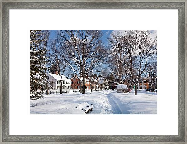 Framed Print featuring the photograph Woodstock Green by Susan Cole Kelly