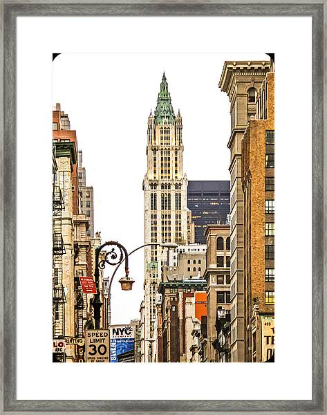 Woolworth Building Iv Framed Print