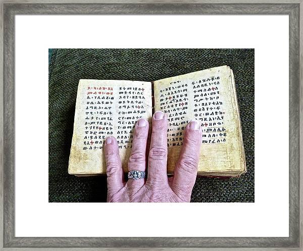 Word Of The Living God Framed Print
