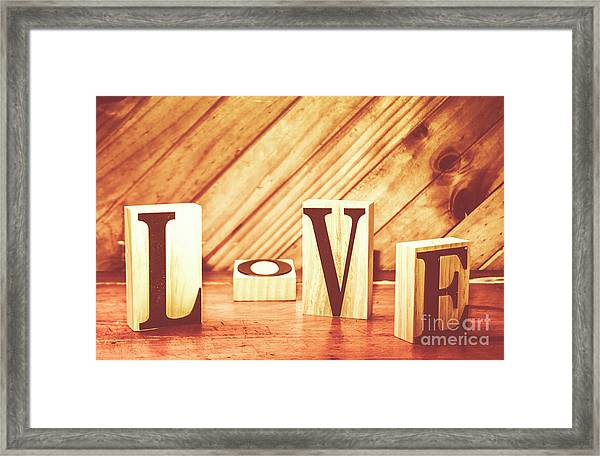Words Of Love Framed Print