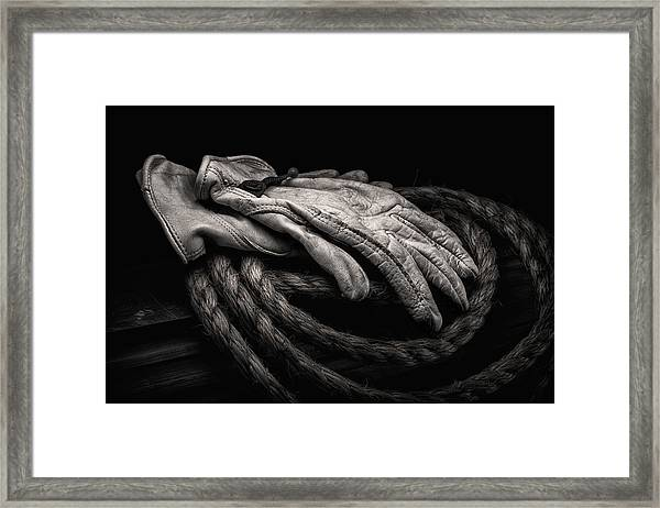 Work Gloves Still Life Framed Print