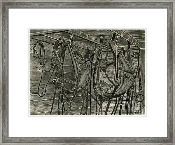 Work Harness Framed Print by Bryan Baumeister