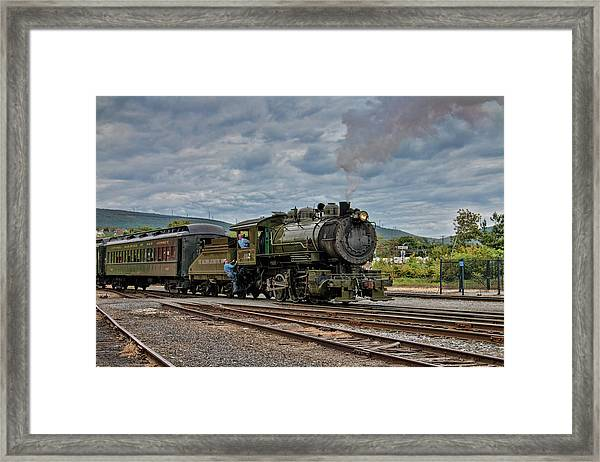 Workhorse At Steamtown Framed Print
