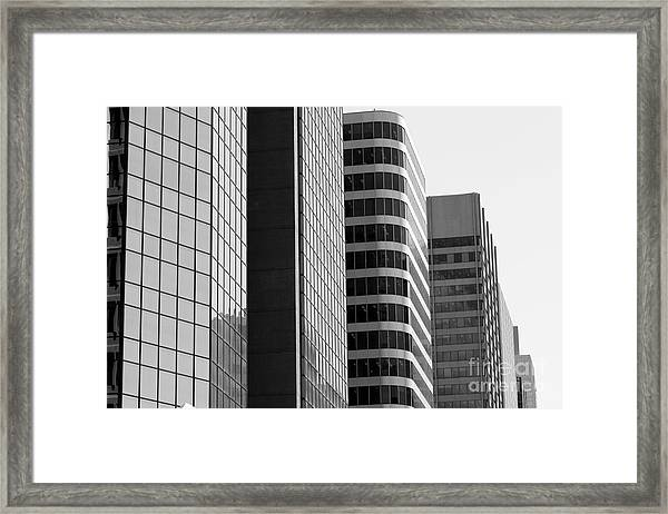 Working Downtown Framed Print