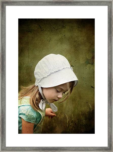 Working In The Fields Framed Print