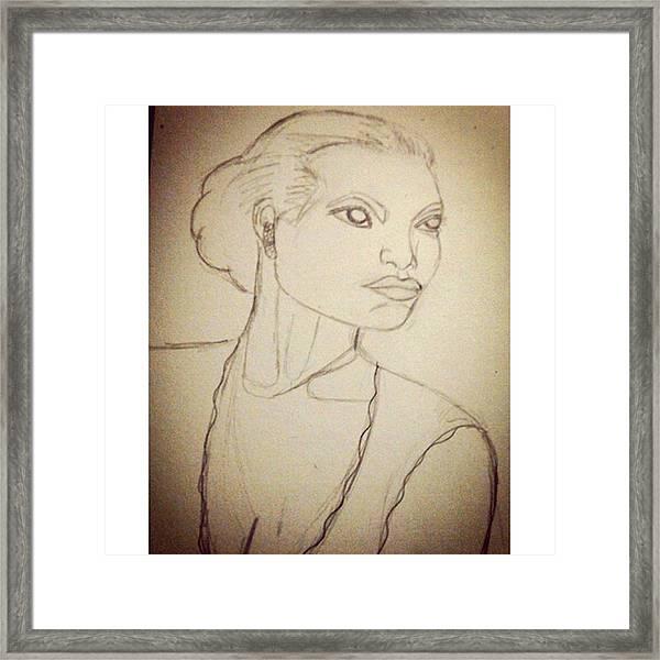 Working On An Eartha Kitt Sketch For My Framed Print