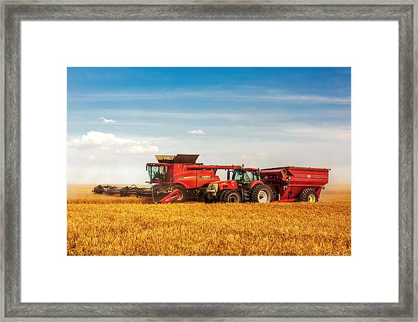 Working Side-by-side Framed Print