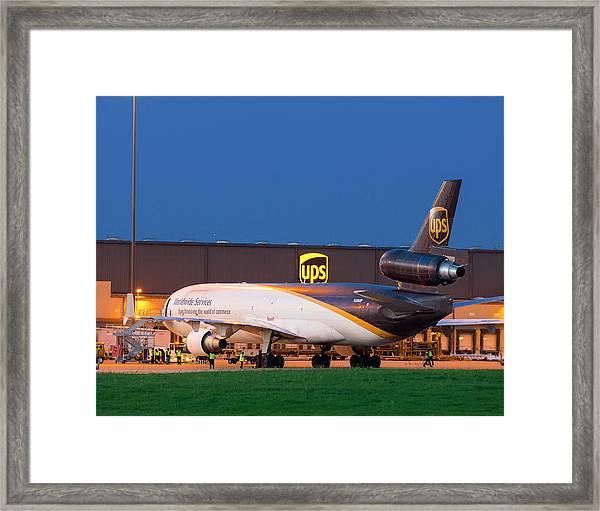 Working The Night Shift Framed Print