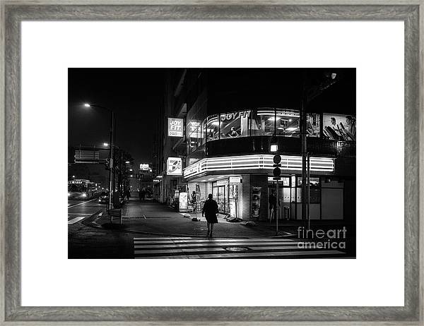 Workout The Night, Tokyo Japan Framed Print