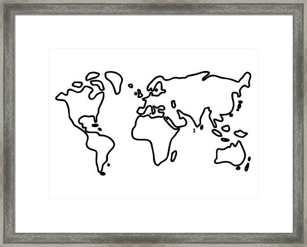 World Globe Framed Print
