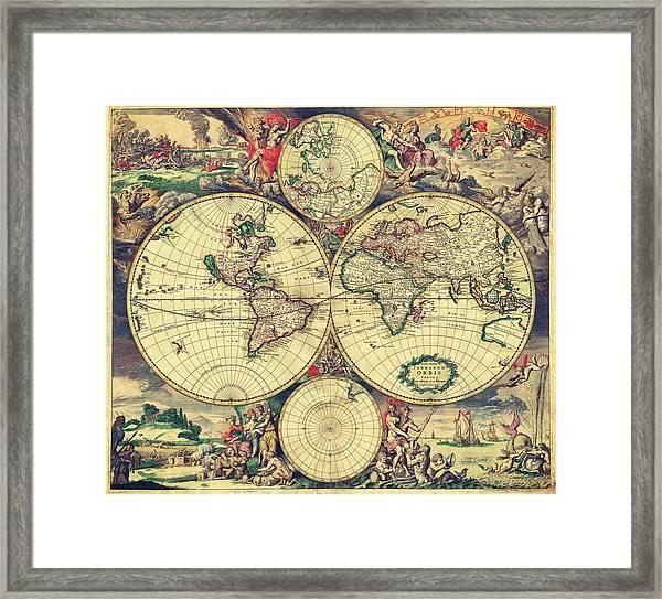 World Map 1689 Framed Print