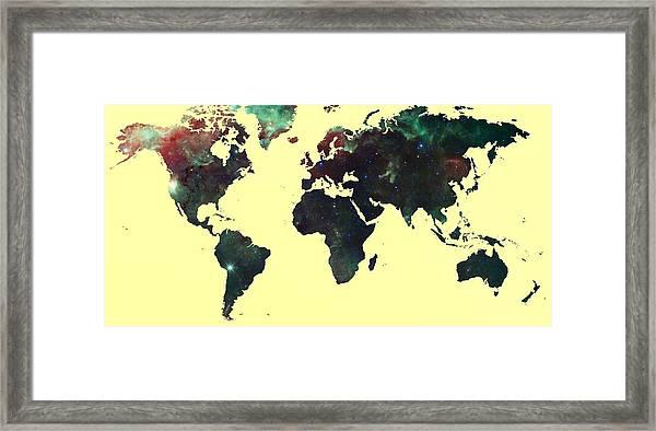 World Map 2 Framed Print