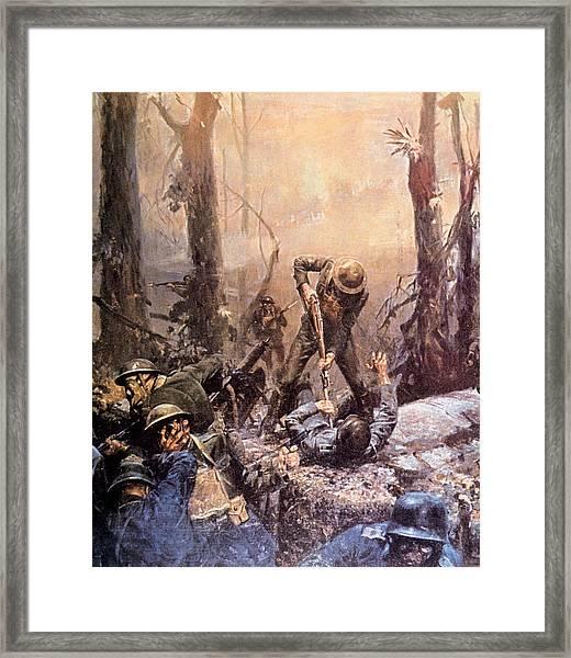 World War I, American Marines In The Framed Print by Everett