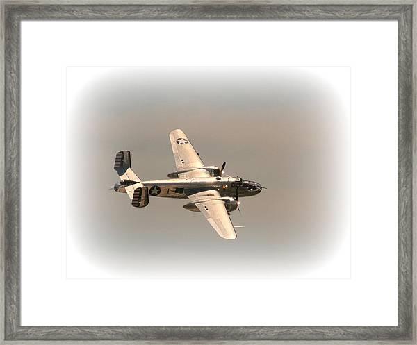 World War II B25 Mitchell Bomber Framed Print