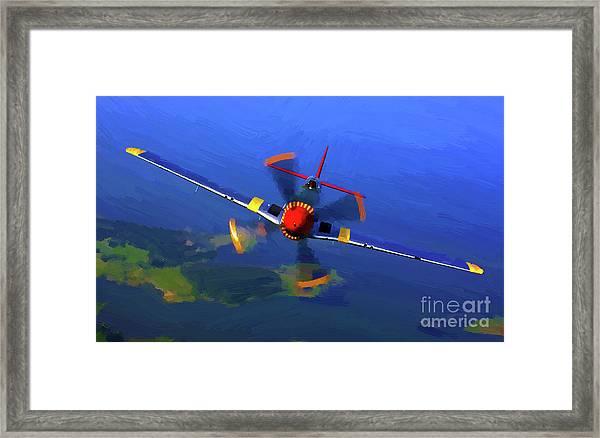 World War II  Mustang Framed Print