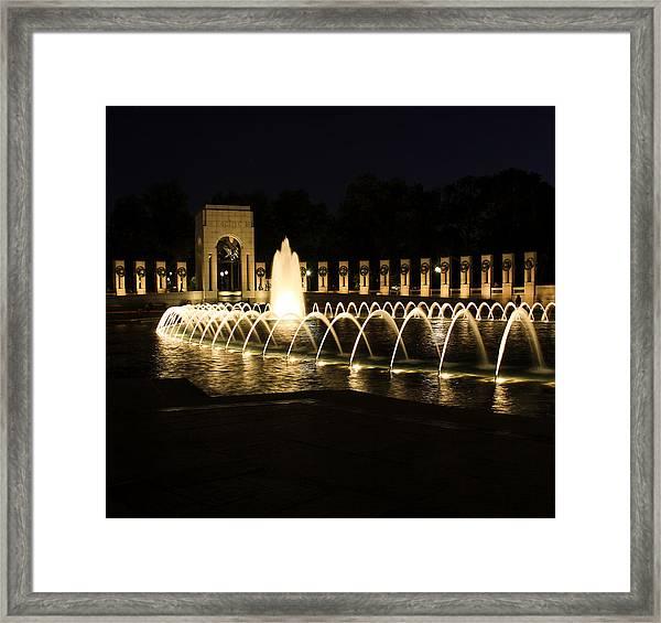 World War Memorial Framed Print