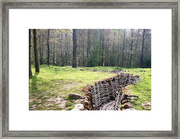 World War One Trenches Framed Print