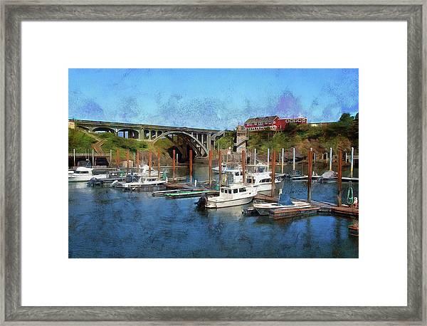Worlds Smallest Harbor Framed Print