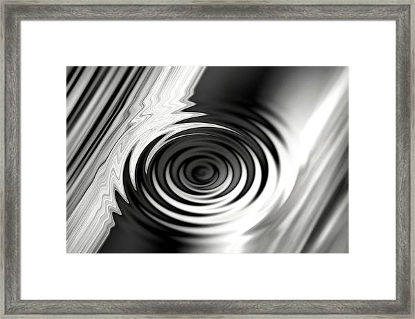 Wormhold Abstract Framed Print