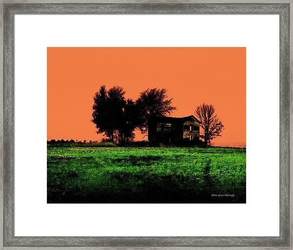 Worn House Framed Print