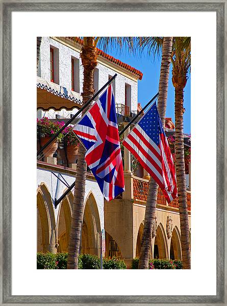 Worth Flags Framed Print