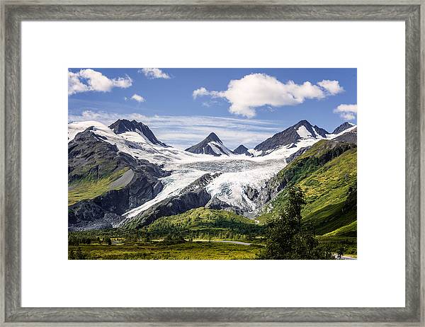 Framed Print featuring the photograph Worthington Glacier by Claudia Abbott