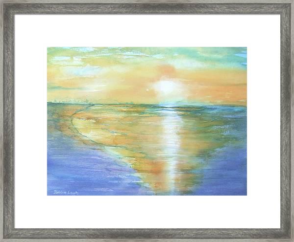 Wow Sunset Framed Print
