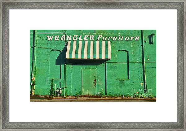 Wrangler Furniture Framed Print