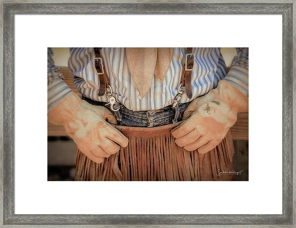 Wrangler Gloves Framed Print