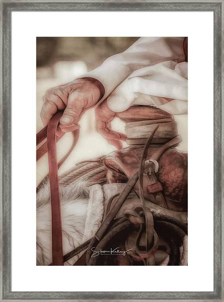 Wrangler Hands Framed Print