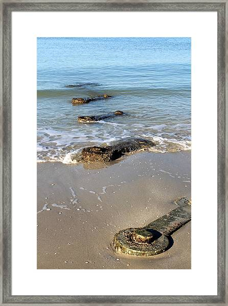 Wrenches In The Sand Framed Print