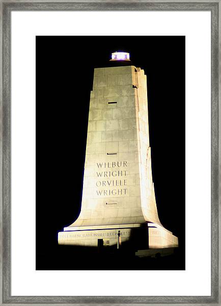 Wright Brothers' Memorial Framed Print