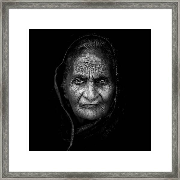 Wrinkles Framed Print