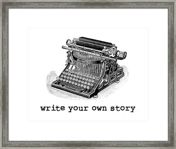 Write Your Own Story T-shirt Framed Print