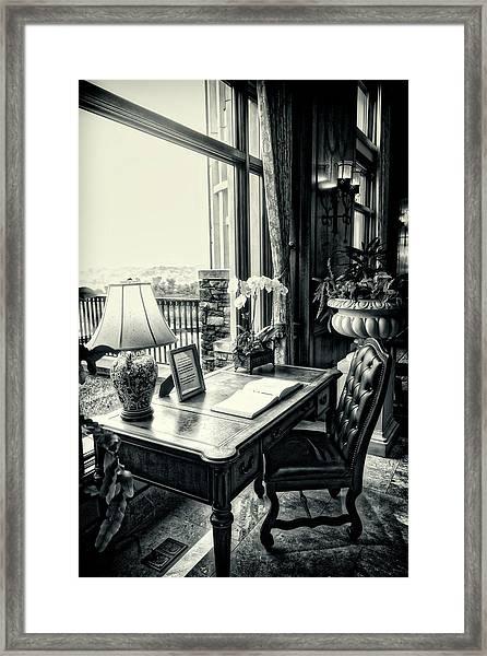 Writing Desk Bw Series 0808 Framed Print