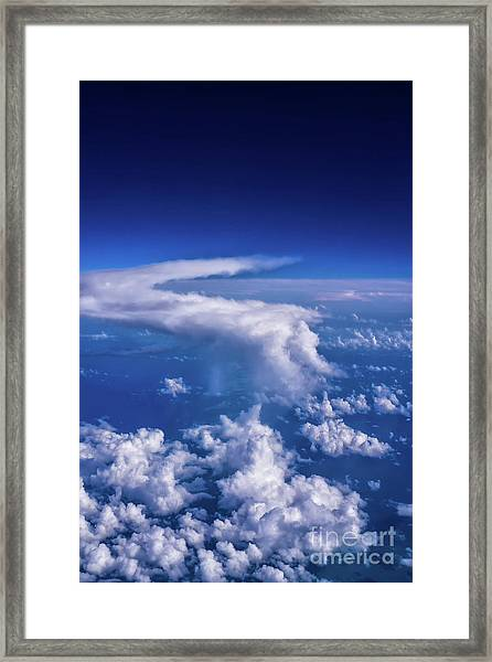 Writing In The Sky Framed Print