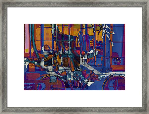 Writing On The Rails 1 Framed Print by John Ricker