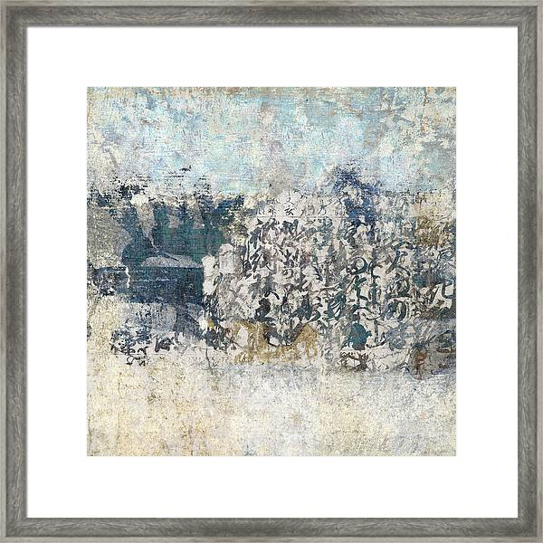 Writing On The Wall Number 3 Square Framed Print