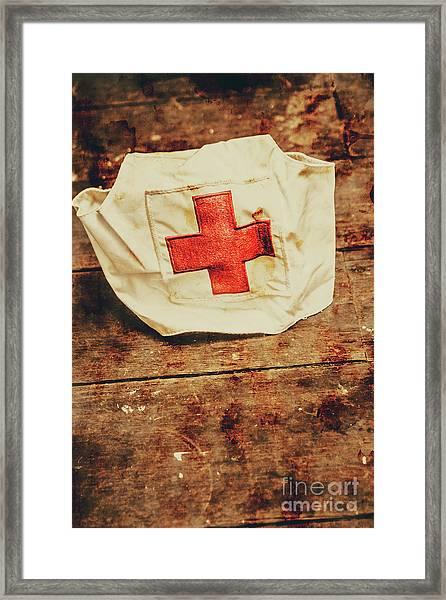 Ww2 Nurse Hat. Army Medical Corps Framed Print